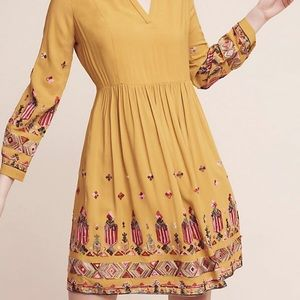 Embroidered yellow dress